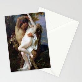 Alexandre Cabanel - Nymphe enlevee par un faune Stationery Cards