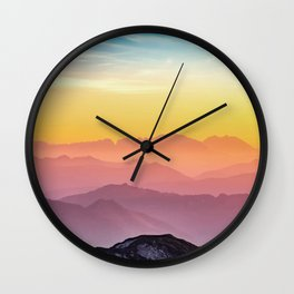 Climb the Rainbow Mountain Wall Clock