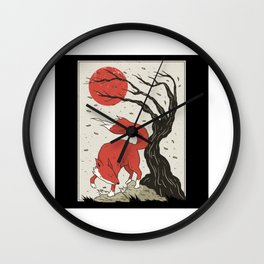 Fox Japan Wall Clock
