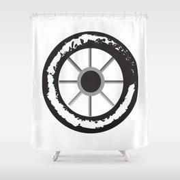 wheels 3x Shower Curtain