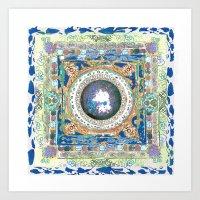 Clear Sky Mandala Art Print
