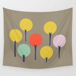 Color Pop Trees Wall Tapestry