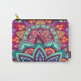 Bohemian Carnival Floral Mandala Carry-All Pouch
