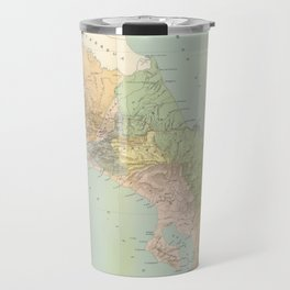 Vintage Map of Costa Rica (1889) Travel Mug