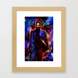 keanu reeves Framed Art Print
