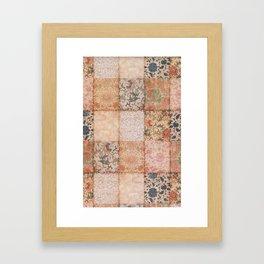 Vintage Textures Framed Art Print