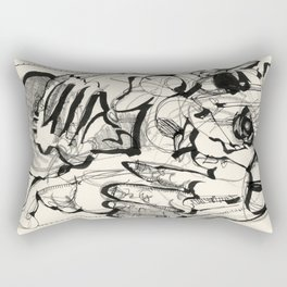 One Day In The Circus Rectangular Pillow