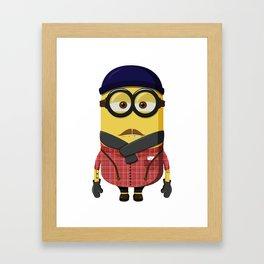 Hipster Minion Framed Art Print
