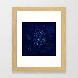 Sacred Blue Wolf Framed Art Print