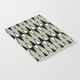 Mid Century Modern Diamond Pattern Sage Green 234 Notebook