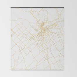 OTTAWA CANADA CITY STREET MAP ART Throw Blanket
