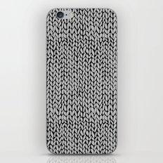 Hand Knit Grey Black iPhone Skin