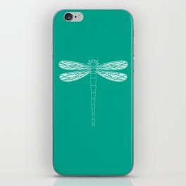 dragonfly in emerald iPhone Skin