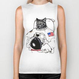 Astronomically Curious Cat Biker Tank