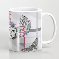 moth Mugs featuring Moth by WaterLily