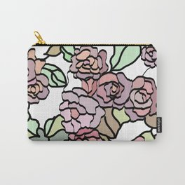 pattern of branches and roses 2 .  Pastel colors . Carry-All Pouch