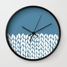 Half Knit Blue Wall Clock