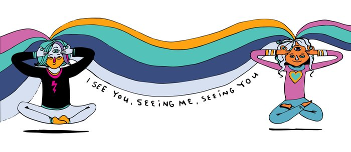 I see you, seeing me, seeing you Coffee Mug