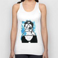 jared leto Tank Tops featuring jared triangle leto by anxiety