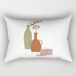 Christmas Winter Abstract Bohemian Vases, Christmas Gifts, Vintage Lovers Gift Rectangular Pillow