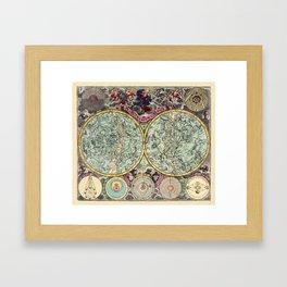 Celestial Map 1730b Framed Art Print
