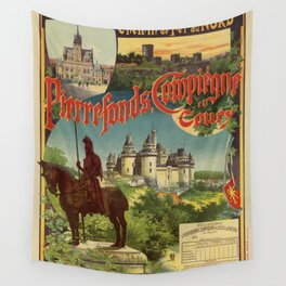 Vintage French railroad advertising 1897 Wall Tapestry