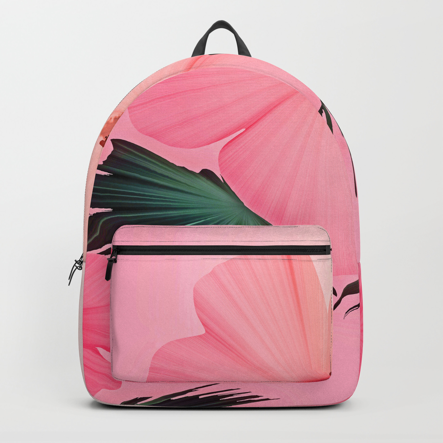 Tropical Pink Hibiscus Flower Print Backpack By Sandandchi Society6