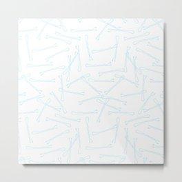 BOBBY PINS ((baby blue)) Metal Print