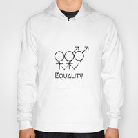 equality Hoodies featuring Marriage Equality by Purshue feat Sci Fi Dude