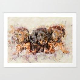 Dachshund Dog Cute Art Print