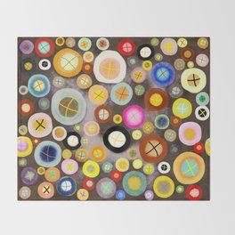 The incident - Circles pale vintage cross Throw Blanket