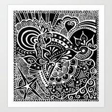 Rebirth Zentangle Art Print