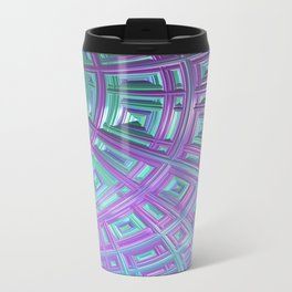 Ceiling Stare Fractal - Abstract Art Travel Mug