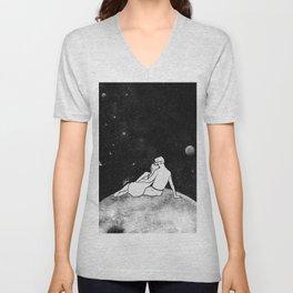 The greatest moon. Unisex V-Neck