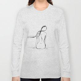 Woman Line Drawing Long Sleeve T-shirt