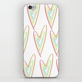 Colorful Heart iPhone Skin