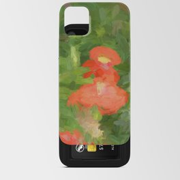 Abstract Poppies iPhone Card Case