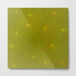 Fireflies and Filaments Metal Print