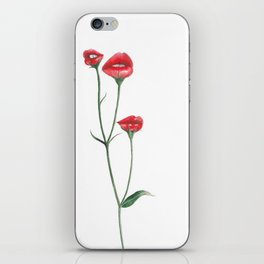 Flower kisses iPhone Skin