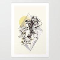 Queens of the Flowers Art Print