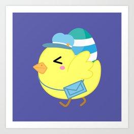 Courier Chicken Art Print