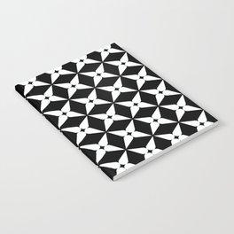 Geometric Pattern 247 (white crosses) Notebook