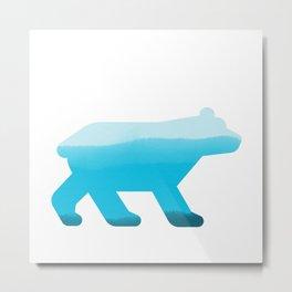 Blue Bear - Wildlife Series Metal Print