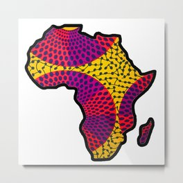 Purple and Pink Africa Map Metal Print