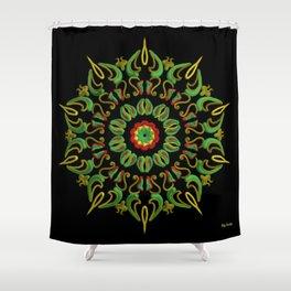 Mandala Reggae en la noche Shower Curtain