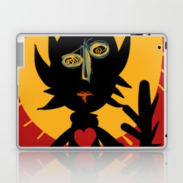 Life is a little man under the sun in a red sky African Art Laptop & iPad Skin