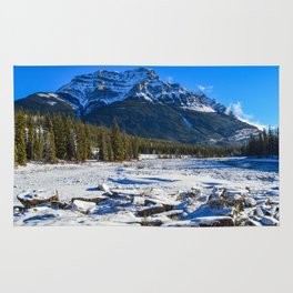 Mount Kerkeslin in Jasper National Park, Alberta Rug