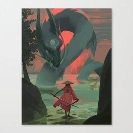 Froggy the Samurai Canvas Print