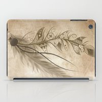 bohemian iPad Cases featuring Bohemian Feather by LouJah