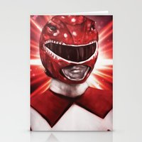 power ranger Stationery Cards featuring Red Power Ranger by SachsIllustration